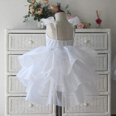 画像1: バレエ衣装   オーガンジーフリルスカート(白・ブルー・ピンク) レオタード お遊戯会 イベント