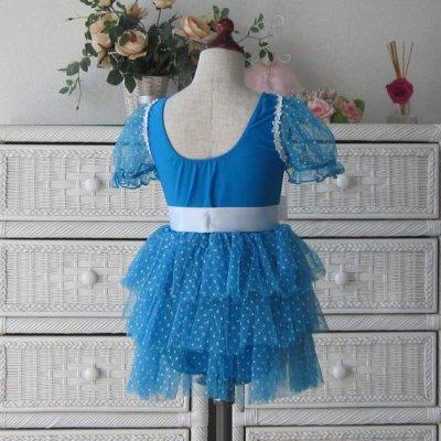 画像2: バレエ衣装 水玉チュチュスカー ト(黒・ブルー) ダンスレオター ド