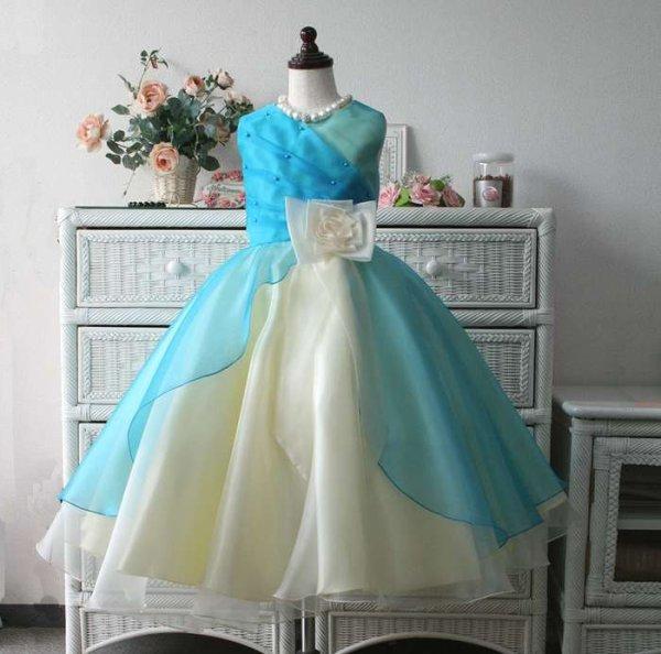 画像1: 子供ドレス サフラン(ブルーハワイ)ジュニアドレス 発表会  (1)