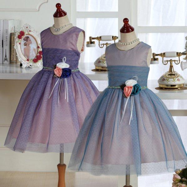 画像1: セール 子供ドレス ゆるふわレース スカビオサ (1)