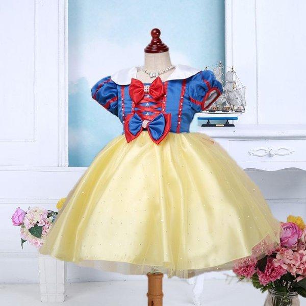 画像1: 子供ドレス 白雪姫 コスプレ ハロウィーン スノープリンセス キッズドレス バレエ衣装 (1)