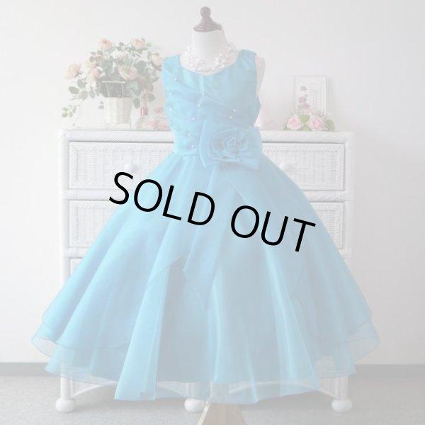 画像1: 子供ドレス キッズドレス サフラン ロイヤルブルー (1)