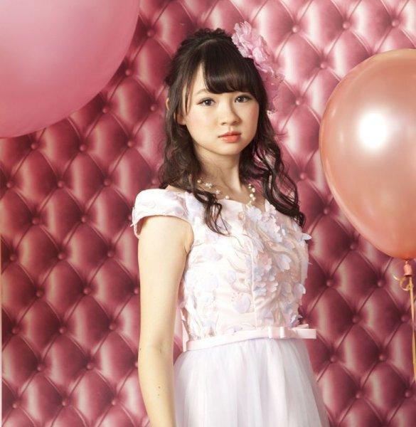 画像1: ピンクのロングドレス  (1)