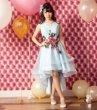 画像1: ハーフスカートフラワー 演奏会用ドレス ウエディングドレス とっても豪華なスカートが素敵 超豪華ロングドレス 結婚式 発表会 ウェディング (1)