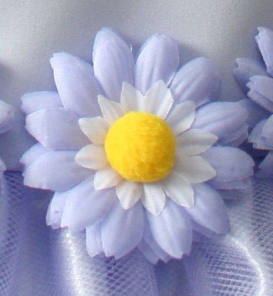 画像1: 紫のマーガレットコサージュ (1)
