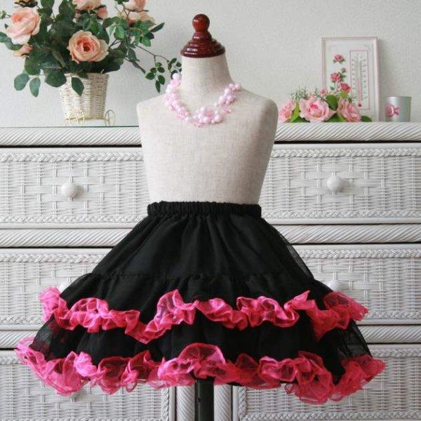 画像1: パニエにもスカートにも/シフォン(フリルカラー)/大人の方も/子供ドレスにも/キッズパニエ/ パニエ/チュチュ/ 女の子用ドレス フォーマル/バレエ衣装 (1)