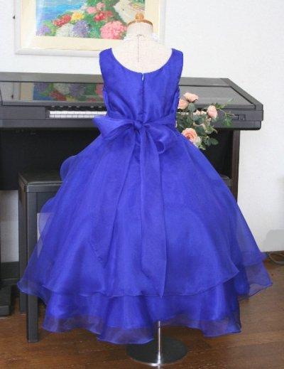 画像2: 子供ドレス サフラン(ミッドナイトブルー)結婚式/バレエ衣装/発表会/お値打ち/フォーマルドレス/ジュニアドレス