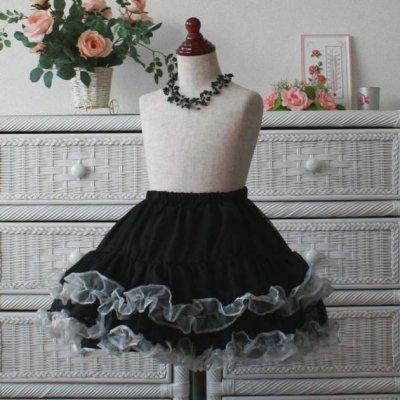 画像1: パニエにもスカートにも/シフォン(フリルカラー)/大人の方も/子供ドレスにも/キッズパニエ/ パニエ/チュチュ/ 女の子用ドレス フォーマル/バレエ衣装