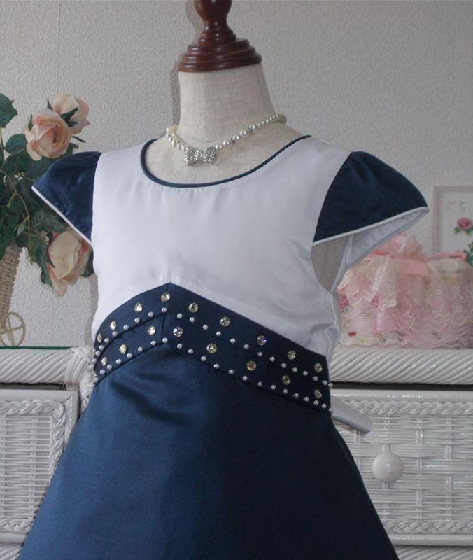 cd2d8b6352d96 子供ドレス キッズドレス ブルーオパール  newdress005