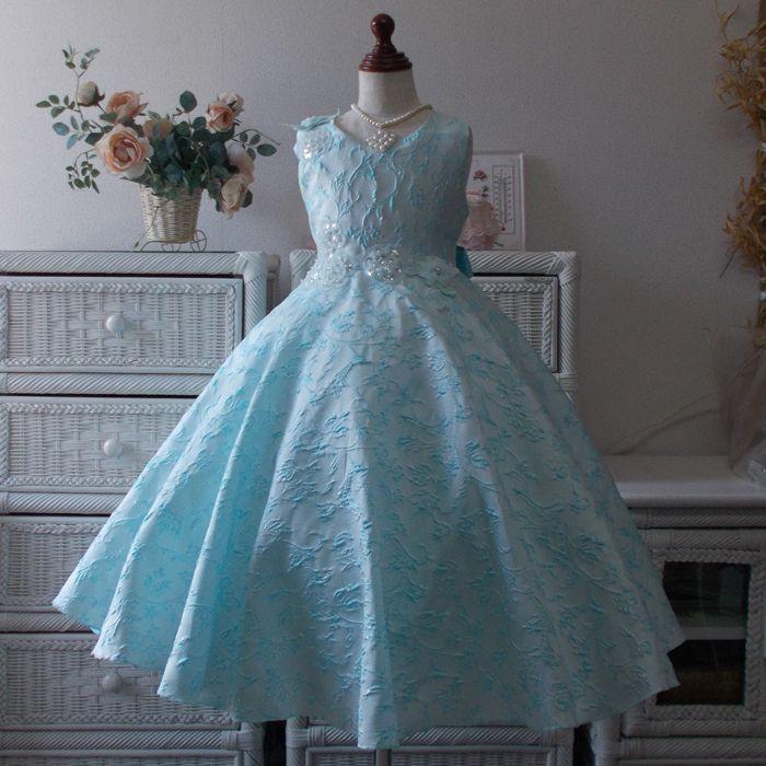 537cec420e574 子供ドレス キッズドレス アクアマリン  newdress003