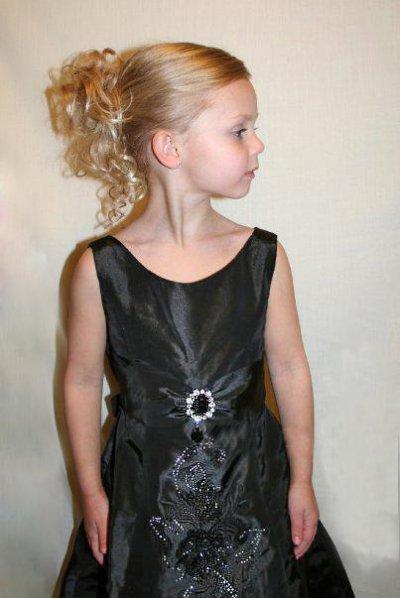 画像1: ブローチとレース飾りがポイントロングドレスチャーム ロング コンクール 子供ドレス 発表会 ジュニアドレス 七五三 女の子 フォーマル